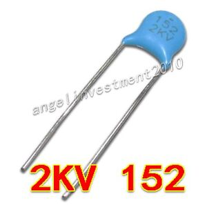 New High Voltage Ceramic Capacitor 2kv152 2000v 1500pf 1 5nf