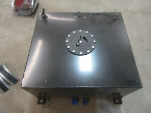 15 Gallon Black Aluminum Fuel Cell Gas Tank Hot Rod Rat Rod Parts