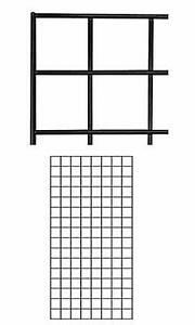 Case Of 4 New Retails Black Finish Wire Grid Wall Panel 2 X 4