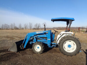 1993 New Holland 2120 Tractor 4wd Nh7309 Loader Hyd Shuttle 40hp 1 Remote