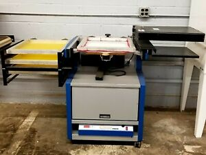 Used Press a print Precision Screen Printing System W Flash Exposure Unit
