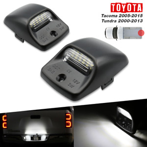 For 2000 2013 Toyota Tundra White Led Tag License Plate Light Bulbs Assembly