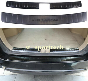 Fit For Toyota Highlander 2008 2013 Rear Bumper Protector Sill Plate Cover 2pcs
