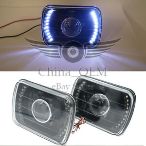 Universal Headlight 7 Square White Led Lamp Projector Headlamp Driving Lights