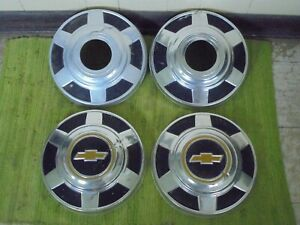 73 87 Chevy 3 4 Ton 4x4 Dog Dish Hubcaps 12 Set Of 4 Pickup Truck 16 16 5 K20
