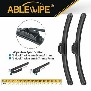 Ablewipe 17 17 Fit For Toyota 4runner Pickup Tacoma Windshield Wiper Blades