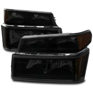 For 04 12 Chevy Colorado Canyon Black Smoke Headlight Lamp Corner Parking Signal
