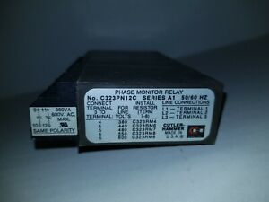 Cutler Hammer Phase Monitor Relay C323pn12c Series A1