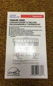 Honeywell Programmable Thermostat T8602d 2000 new