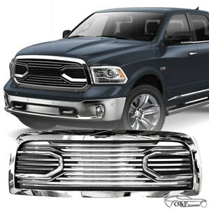 For 2010 2017 Dodge Ram 2500 3500 Big Horn Front Bumper Hood Chrome Black Grille