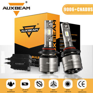 Auxbeam 9006 Hb4 Led Headlight Conversion Bulbs High Power 6500k canbus Adapter
