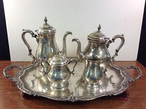 International Sterling Prelude 4pc Coffee Tea Pot Sugar Creamer Set 145 60 Ozt