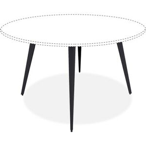 Lorell Round Conference Table Steel Base 28 50 Height X 35 Width X 35 Depth