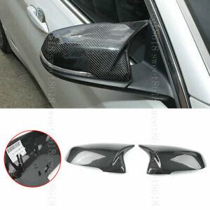 Real Carbon Fiber Side Wing Mirror Rearview Replace Cover For Bmw X1 X2 16 19