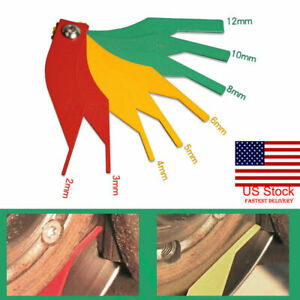 Automotive Brake Pad Feeler Lining Thickness Gauge Measure Tool Pro 8 In 1 Us