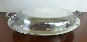 10 Meriden International Silver Plate Serving Dish With Cover