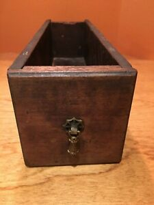 Vintage Treadle Sewing Machine Wood Cabinet Drawer With Original Brass Pull 17