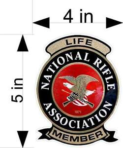 Nra Life Member Window Laptop Car Truck Vehicle Decals Stickers