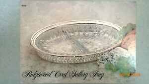 Vintage Oneida Ridgewood Silver Plate 10 75 Oval Gallery Tray New In Box
