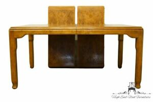 Century Furniture Asian Chinoiserie Inspired Burled Wood 98 Dining Table