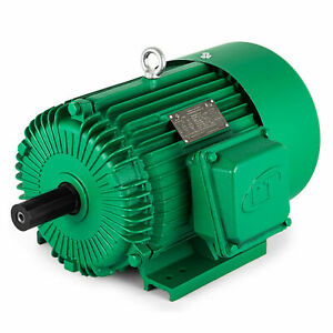 5 Hp 3 Phase Electric Motor 1800 Rpm 184t Frame Tefc 230 460 Volt Severe Duty