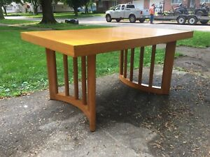 Paul Laszlo Dining Table Mid Century Modern Brown Saltman