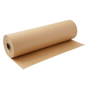 98yds Length Brown Kraft Wrapping Paper Roll For Gift Wrapping 30cm Width