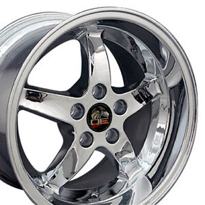 17x10 5 17x9 Wheels Fit Ford Mustang Cobra R Dd Style Chrome Rims Set oew