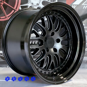 Xxr 570 Wheels 18x9 5 10 5 20 Flat Black Mesh Step Lip Staggered 5x114 3 Stance
