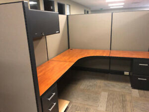 Herman Miller Ao2 Cubicles 5x5 X 53 Inch Tall Gray Fabric