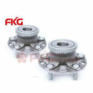 Both 2 New Rear Wheel Hubs Bearing Assembly For Honda Accord W Abs 5 Lugs 512188