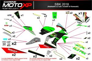 Stickers Decal Moto Compatible Zx10r 2016 2019 Sb18