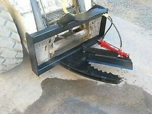 Tree Shear Hd 3 Cylinder Skid Steer Tractor Loader Attachment