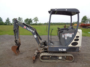 2013 Terex Tc16 Excavator Orops Aux Hydraulics Blade Rubber Tracks 1 793hrs