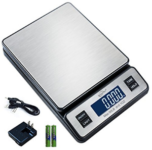 90lbs Digital Shipping Postal Scale Weigh Ship For Ups Usps Fedex W Ac Adapter