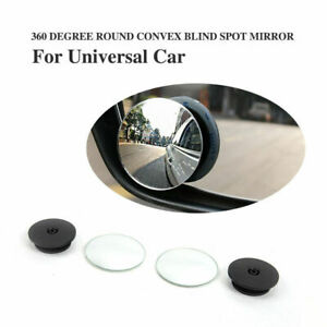 2x Vehicle Wide Angle Rear View Side Blind Spot Convex Mirror 360 Rotatable