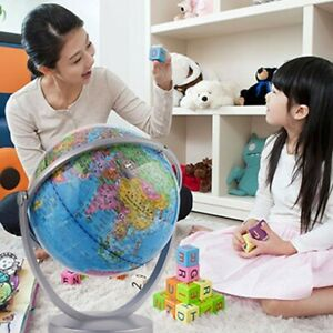 World Globe Rotating Earth Map Geography Kids Learning Home Desktop Decor Us