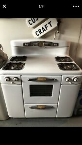 1950 S Tappan Antique Gas Stove White