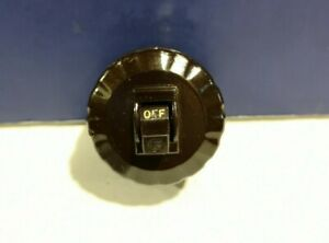 Circle F Brown Surface Toggle Switch Slot Base With Cover 3011 Vintage New