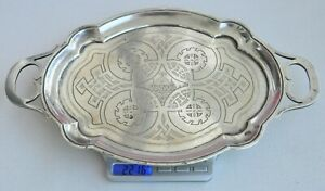 19c Russian Imperial Royal 84 Silver Tray Salver Goblet Chalice Kovsh Bowl Egg