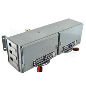 Qmb223td Square D 240v 100a Qmb E1 e2 Switch Panel Mount Dual Twin 1ph 2p