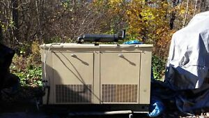 Generac Natural Gas Outdoor Generator 31 Kw Only 433 Hours Chevy 350 Engine