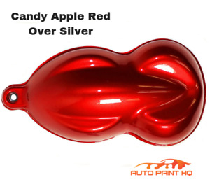 Candy Apple Red Over Silver Basecoat Quart Car Vehicle Motorcycle Auto Paint Kit