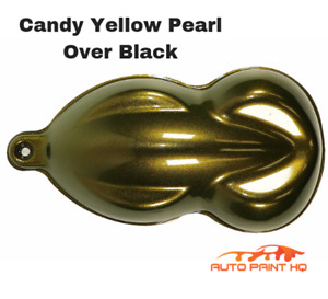 Candy Pearl Yellow Over Black Basecoat Quart Car Vehicle Motorcycle Paint Kit