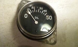 Stewart Warner Oil Pressure Gauge Vintage Auburn Dash Ford Hot Rod Scta Trog