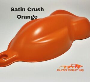 Satin Crush Orange Basecoat Quart Car Vehicle Motorcycle Auto Paint Kit