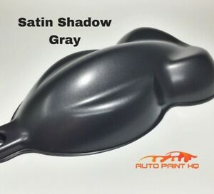 Satin Gunmetal Shadow Gray Basecoat Quart Car Vehicle Motorcycle Auto Paint Kit