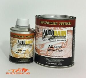 Low Gloss Satin Clear Coat Quart Act 4 1 Mix Autobahn Car Vehicle Auto Kit