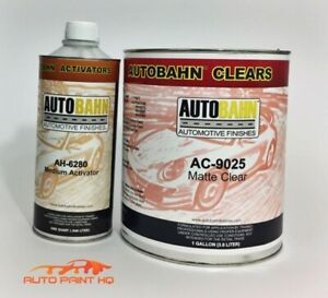 Low Gloss Satin Clear Coat Gallon Act 4 1 Mix Autobahn Car Vehicle Auto Kit