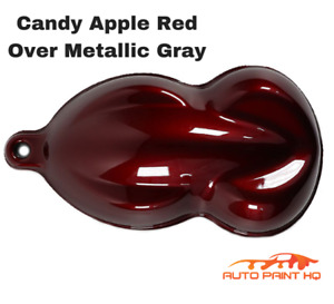 Candy Apple Red Over Gray Basecoat Tri coat Gallon Car Vehicle Auto Paint Kit